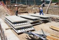 Muros de contención de hormigón semi-prefabricados.