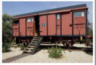 Casas en vagones de trenes.