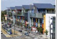 Solar Item. Cubierta para edificaciones de paneles solares.