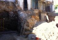 Seguimiento de obra – equipo aparejador: Bloque de dos viviendas y local en Santorcaz – Madrid. (02) Bataches en muro de sótano.