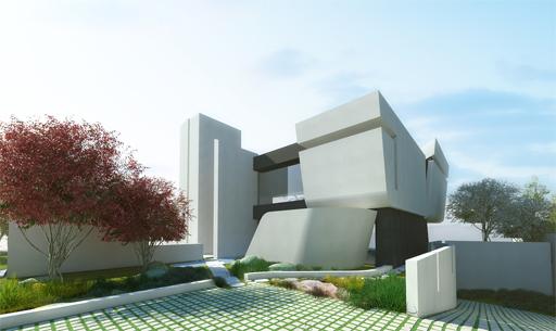 Infografía obra Las Rozas de Madrid realizada por estudio arquitectura A-cero. equipo aparejador.