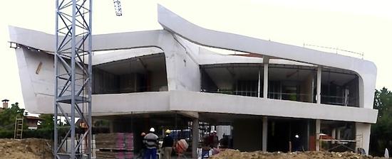 equipo aparejador - Vivienda Unifamiliar las Rozas de Madrid - Estudio de Arquitectura A-cero - Fachada posterior