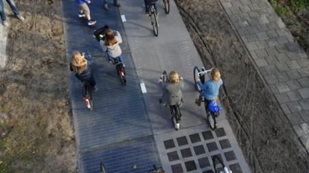 En Holanda de abrió el primer carril bici solar en 2014